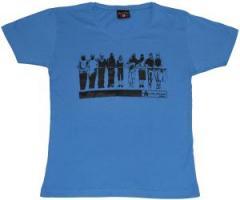 """Zum tailliertes T-Shirt """"Mob blue"""" für 13,65 € gehen."""