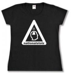 """Zum tailliertes T-Shirt """"Nationalstolz"""" für 14,00 € gehen."""