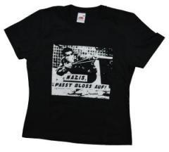 """Zum tailliertes T-Shirt """"Nazis, passt bloss auf"""" für 12,00 € gehen."""