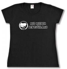 """Zum Girlie-Shirt """"Nie wieder Deutschland"""" für 14,00 € gehen."""