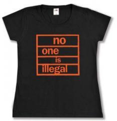 """Zum tailliertes T-Shirt """"no one is illegal"""" für 14,00 € gehen."""