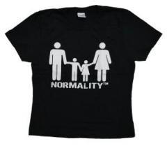 """Zum tailliertes T-Shirt """"normality"""" für 12,00 € gehen."""