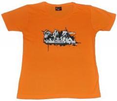 """Zum tailliertes T-Shirt """"Offensiv orange"""" für 17,00 € gehen."""