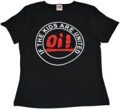 """Zum tailliertes T-Shirt """"Oi! If the kids are united"""" für 13,65 € gehen."""