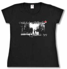 """Zum tailliertes T-Shirt """"Oldschool Antifascists"""" für 13,65 € gehen."""