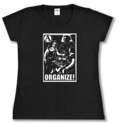 """Zum tailliertes T-Shirt """"Organize"""" für 14,00 € gehen."""