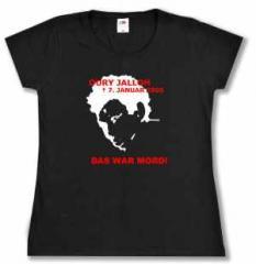 """Zum tailliertes T-Shirt """"Oury Jalloh - 7. Januar 2005"""" für 14,00 € gehen."""