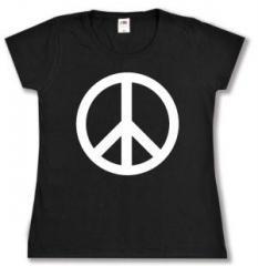 """Zum tailliertes T-Shirt """"Peacezeichen"""" für 13,65 € gehen."""