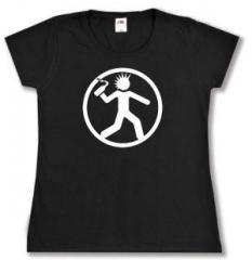 """Zum tailliertes T-Shirt """"Punker mit Molli"""" für 14,00 € gehen."""