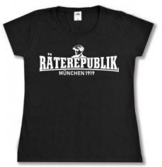 """Zum tailliertes T-Shirt """"Räterepublik München 1919"""" für 13,65 € gehen."""