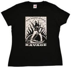 """Zum tailliertes T-Shirt """"Rage Against Gentech"""" für 14,00 € gehen."""