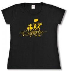 """Zum tailliertes T-Shirt """"Reclaim the Streets"""" für 13,65 € gehen."""