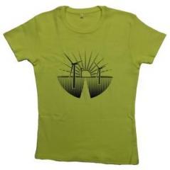 """Zum tailliertes T-Shirt """"Renewables"""" für 19,50 € gehen."""