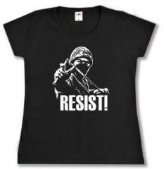 """Zum tailliertes T-Shirt """"Resist!"""" für 14,00 € gehen."""