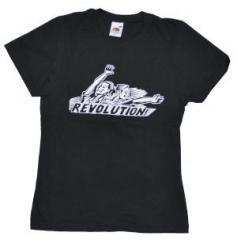 """Zum tailliertes T-Shirt """"Revolution!"""" für 11,70 € gehen."""