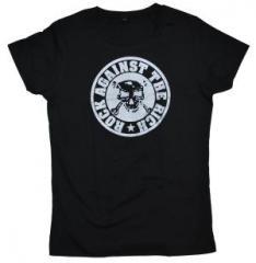 """Zum tailliertes T-Shirt """"Rock against the rich"""" für 15,60 € gehen."""