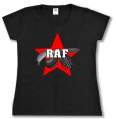 """Zum tailliertes T-Shirt """"Rohkost Armee Fraktion"""" für 16,00 € gehen."""