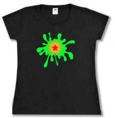 """Zum/zur  tailliertes T-Shirt """"Rojava splash"""" für 16,00 € gehen."""