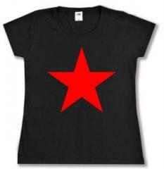 """Zum tailliertes T-Shirt """"Roter Stern"""" für 14,00 € gehen."""
