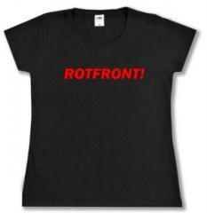 """Zum tailliertes T-Shirt """"Rotfront!"""" für 14,00 € gehen."""