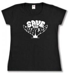 """Zum tailliertes T-Shirt """"Save the Whales"""" für 13,65 € gehen."""