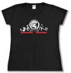 """Zum tailliertes T-Shirt """"SHARP Frankfurt Rude Crew"""" für 16,00 € gehen."""