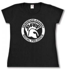 """Zum tailliertes T-Shirt """"Sharp - Skinheads against Racial Prejudice"""" für 14,00 € gehen."""