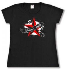 """Zum tailliertes T-Shirt """"Siempre Antifascista"""" für 14,00 € gehen."""