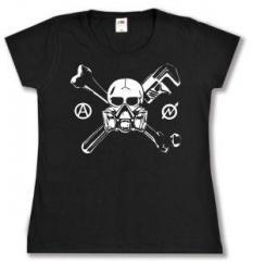 """Zum tailliertes T-Shirt """"Skull - Gasmask"""" für 14,00 € gehen."""