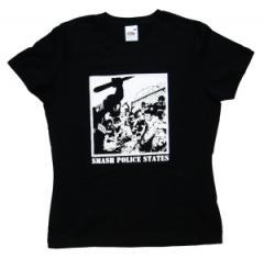 """Zum tailliertes T-Shirt """"Smash Police States"""" für 13,65 € gehen."""
