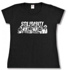 """Zum tailliertes T-Shirt """"Solidarity"""" für 13,65 € gehen."""