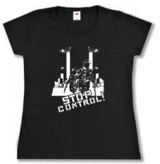 """Zum tailliertes T-Shirt """"Stop Control"""" für 13,65 € gehen."""