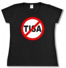 """Zum tailliertes T-Shirt """"Stop TISA"""" für 14,00 € gehen."""