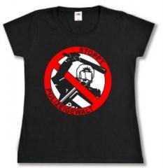 """Zum tailliertes T-Shirt """"Stoppt Polizeigewalt"""" für 13,65 € gehen."""