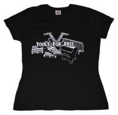 """Zum Girlie-Shirt """"Tools for free"""" für 14,50 € gehen."""