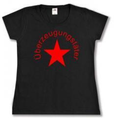 """Zum tailliertes T-Shirt """"Überzeugungstäter Stern"""" für 14,00 € gehen."""