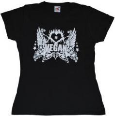 """Zum tailliertes T-Shirt """"Vegan"""" für 12,00 € gehen."""
