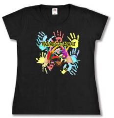 """Zum Girlie-Shirt """"Vielfalt statt Einfalt"""" für 20,00 € gehen."""