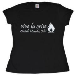 """Zum tailliertes T-Shirt """"vive la crise"""" für 14,13 € gehen."""
