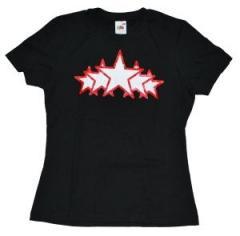 """Zum tailliertes T-Shirt """"White Stars"""" für 12,00 € gehen."""