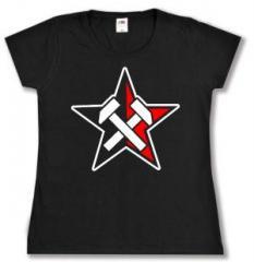 """Zum tailliertes T-Shirt """"Working Class Stern"""" für 14,00 € gehen."""