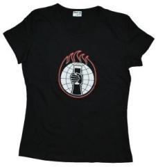 """Zum tailliertes T-Shirt """"World"""" von World Inferno/Friendship Society für 12,00 € gehen."""