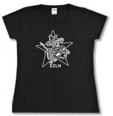 """Zum tailliertes T-Shirt """"Zapatistas Stern EZLN"""" für 14,00 € gehen."""