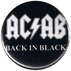 """Zum 25mm Button """"ACAB Back in Black"""" für 0,80 € gehen."""