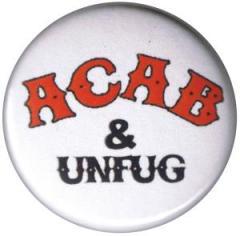 """Zum 25mm Button """"ACAB und Unfug"""" für 0,80 € gehen."""