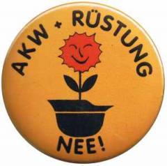 """Zum 25mm Button """"AKW + Rüstung Nee!"""" für 0,80 € gehen."""
