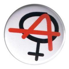 """Zum 25mm Button """"Anarchie ist weiblich"""" für 0,80 € gehen."""