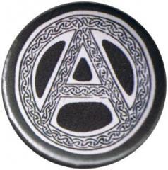 """Zum 25mm Button """"Anarchie - Tribal (schwarz)"""" für 0,78 € gehen."""