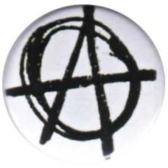 """Zum 25mm Button """"Anarchie (weiß)"""" für 0,78 € gehen."""