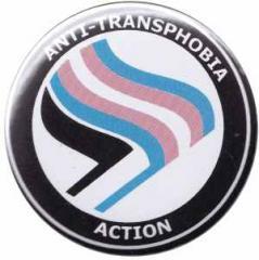"""Zum 25mm Button """"Anti-Transphobia Action"""" für 0,80 € gehen."""